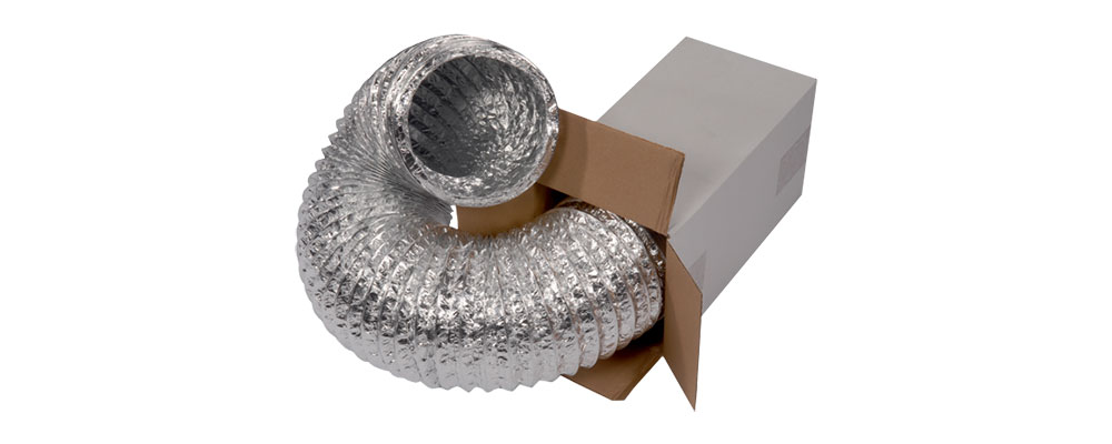 Гъвкави въздуховоди без изолация Aluflex